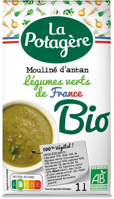 Mouliné d'antan Légumes verts de France 1L