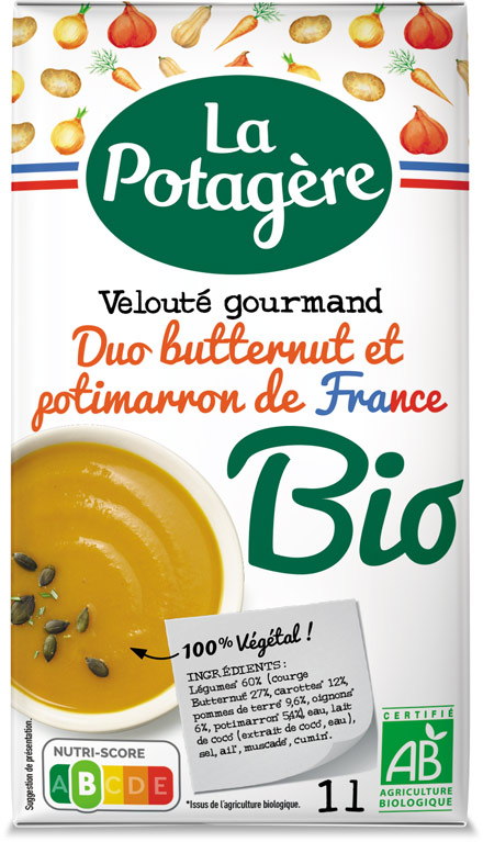 Velouté gourmand Duo Butternut et Potimarron de France 1L