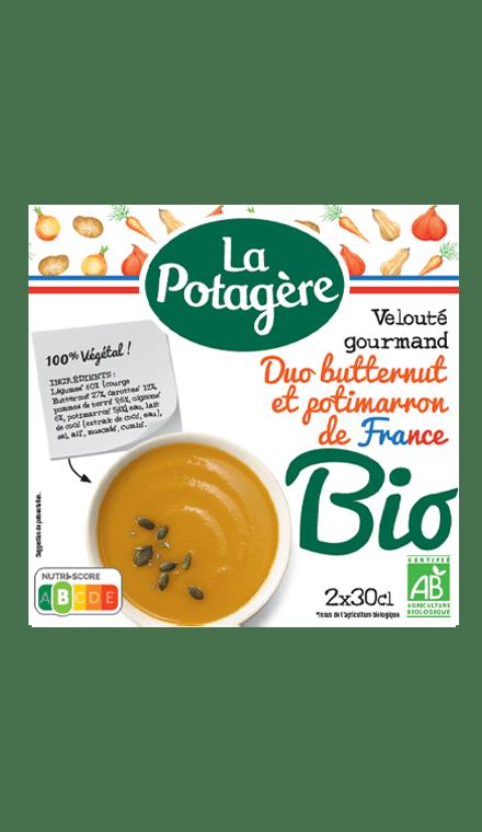 Velouté gourmand Duo Butternut et Potimarron de France 2x30cl
