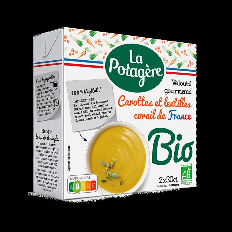 Velouté gourmand Carottes et lentilles corail de France 2x30cl