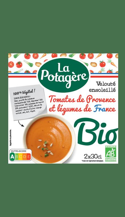 Velouté ensoleillé Tomates de Provence et légumes de France 2x30cl