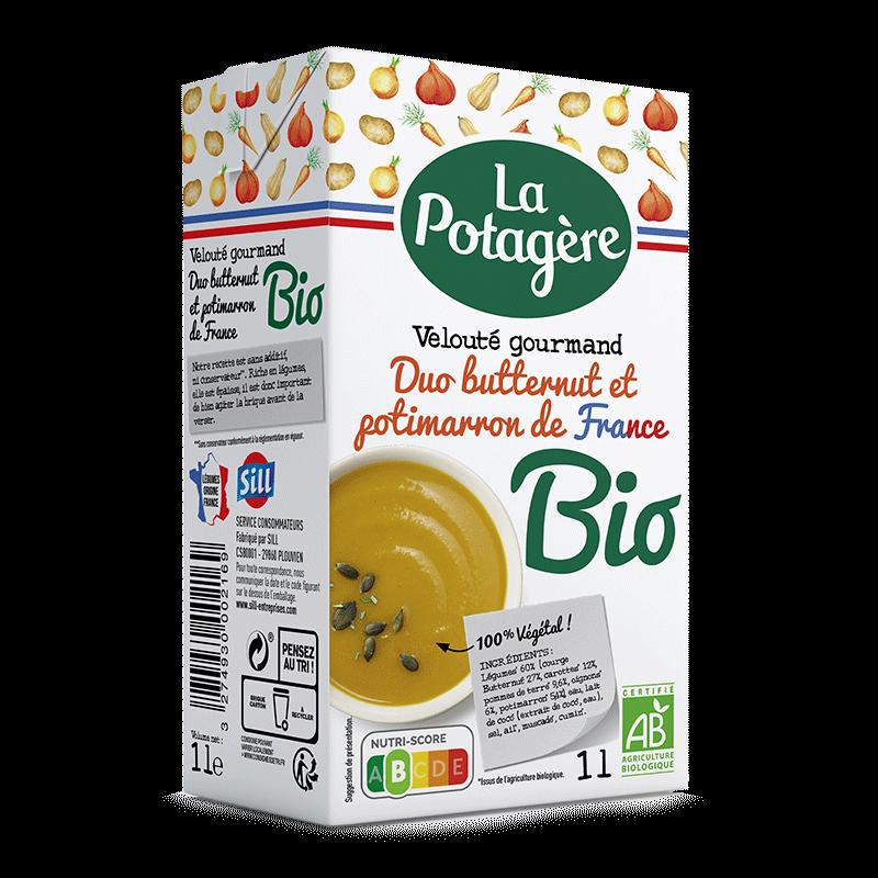 Velouté gourmand Duo Butternut et Potimarron de France 1L